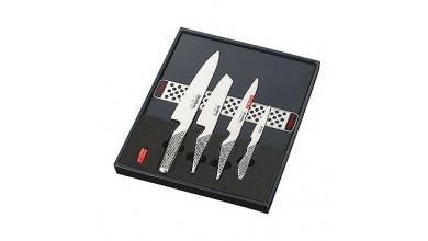 Set de 4 couteaux + barre aimantée