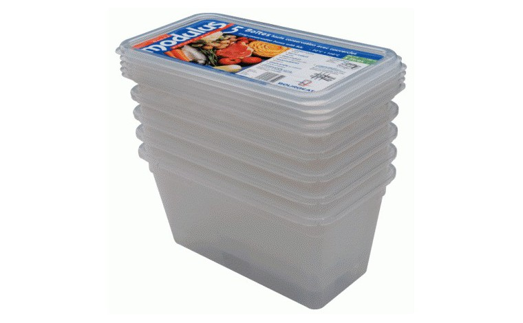 Bac polypropylène GN 1/3 Hauteur 10 cm (Lot de 5 bacs+couvercles)
