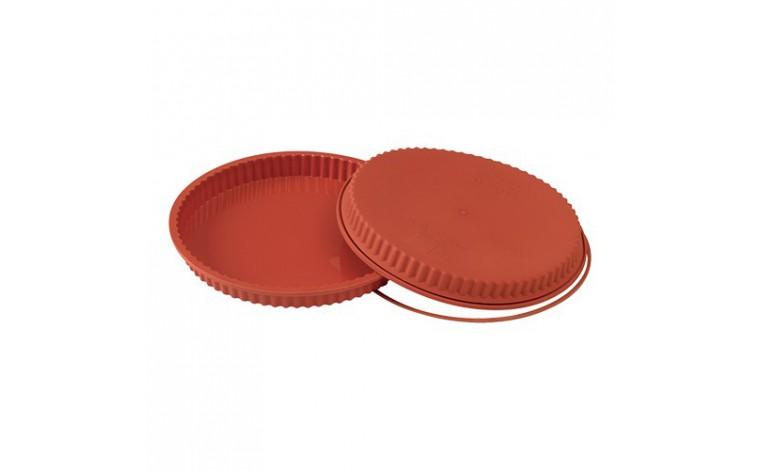 Moule en silicone - Moule à tarte cannelé 24 cm