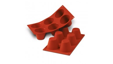 Moule silicone 6 grands babas