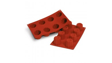 Silicone mould 8 bordeaux fluted