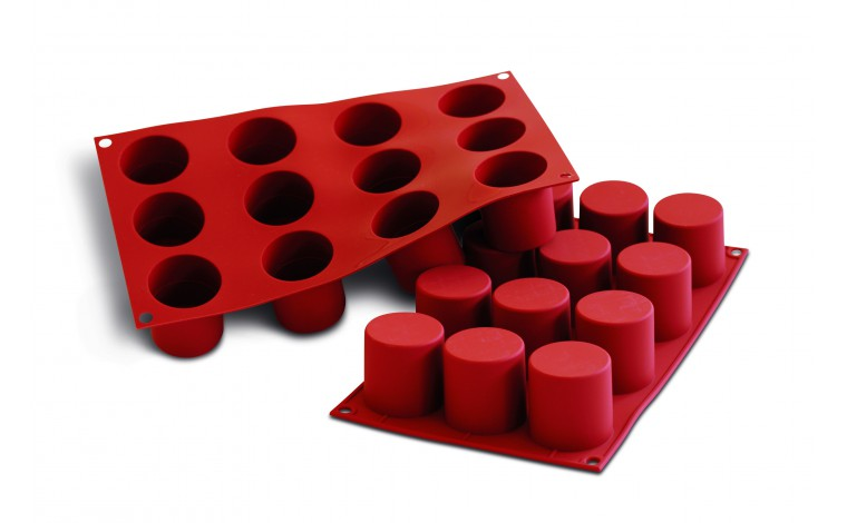 Silicone mould 12 darioles-cylinders
