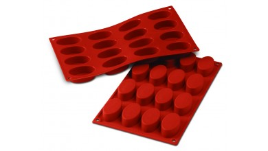Silicone mould 16 small oval ovens