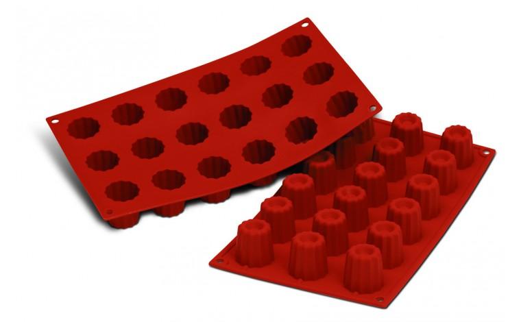 Moule silicone 18 mini cannelés Bordelais