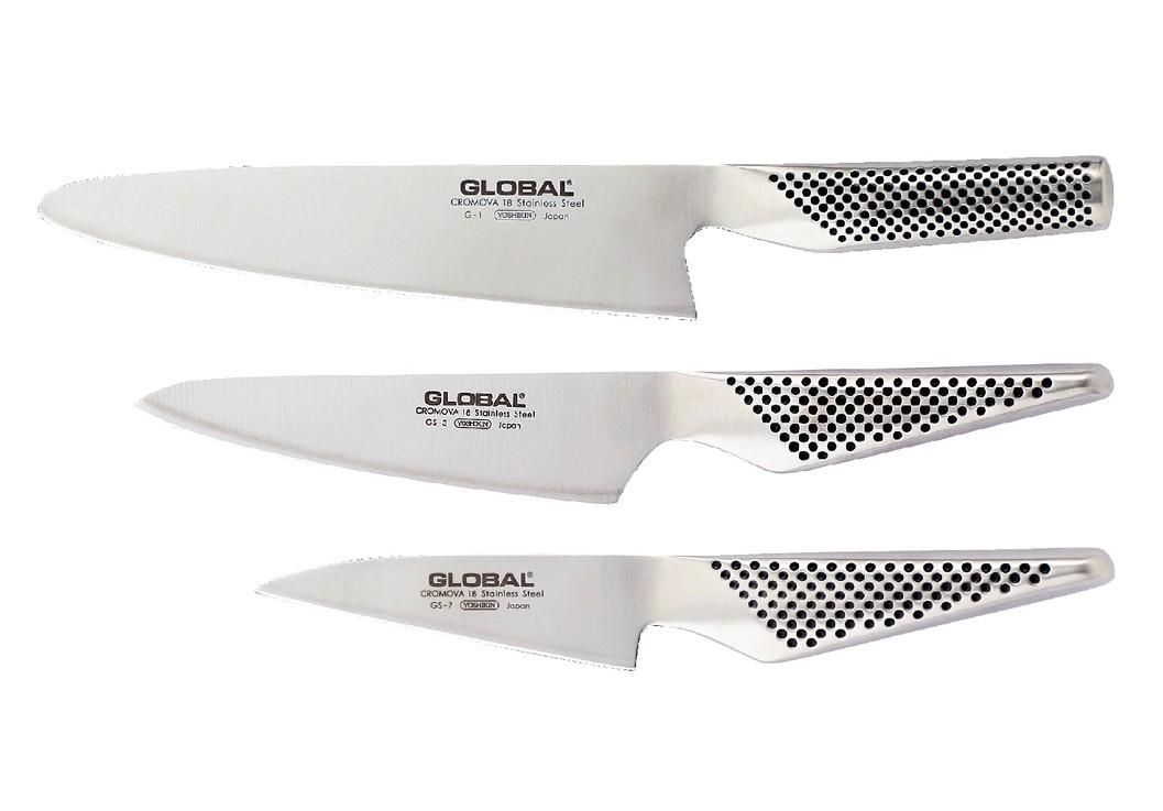 Set 3 couteaux global colichef - Set couteaux de cuisine ...