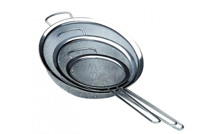 Passe sauce inox avec toile métallique - lot de 3