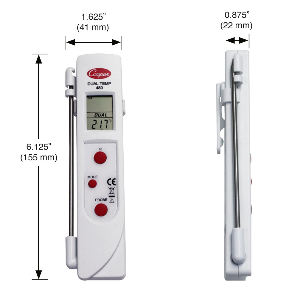 Thermom tre digital duo a vis e laser et sonde colichef for Thermometre laser cuisine