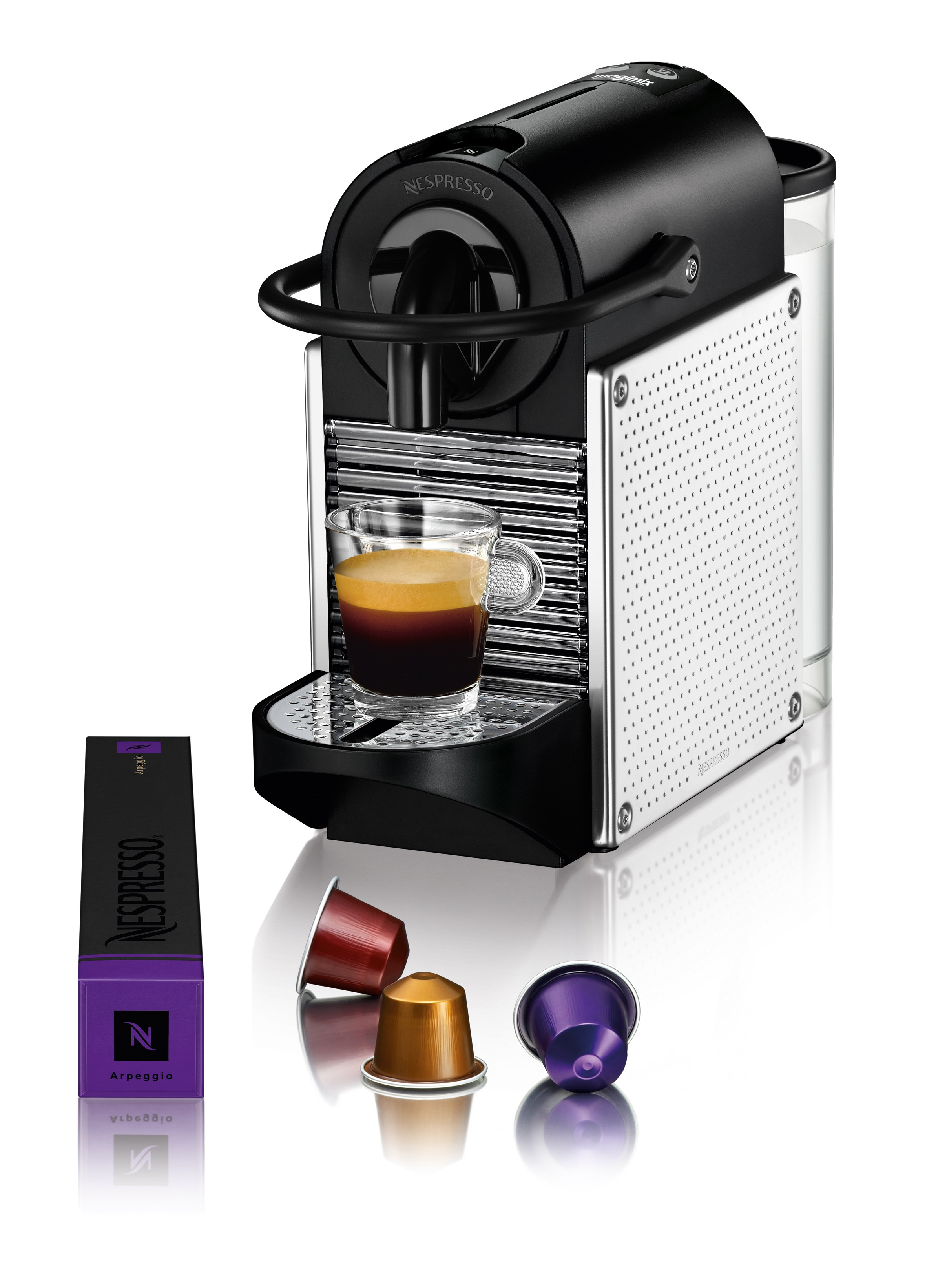 nespresso pixie chrome magimix. Black Bedroom Furniture Sets. Home Design Ideas