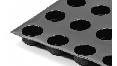 Moule silicone 12 darioles-cylindres