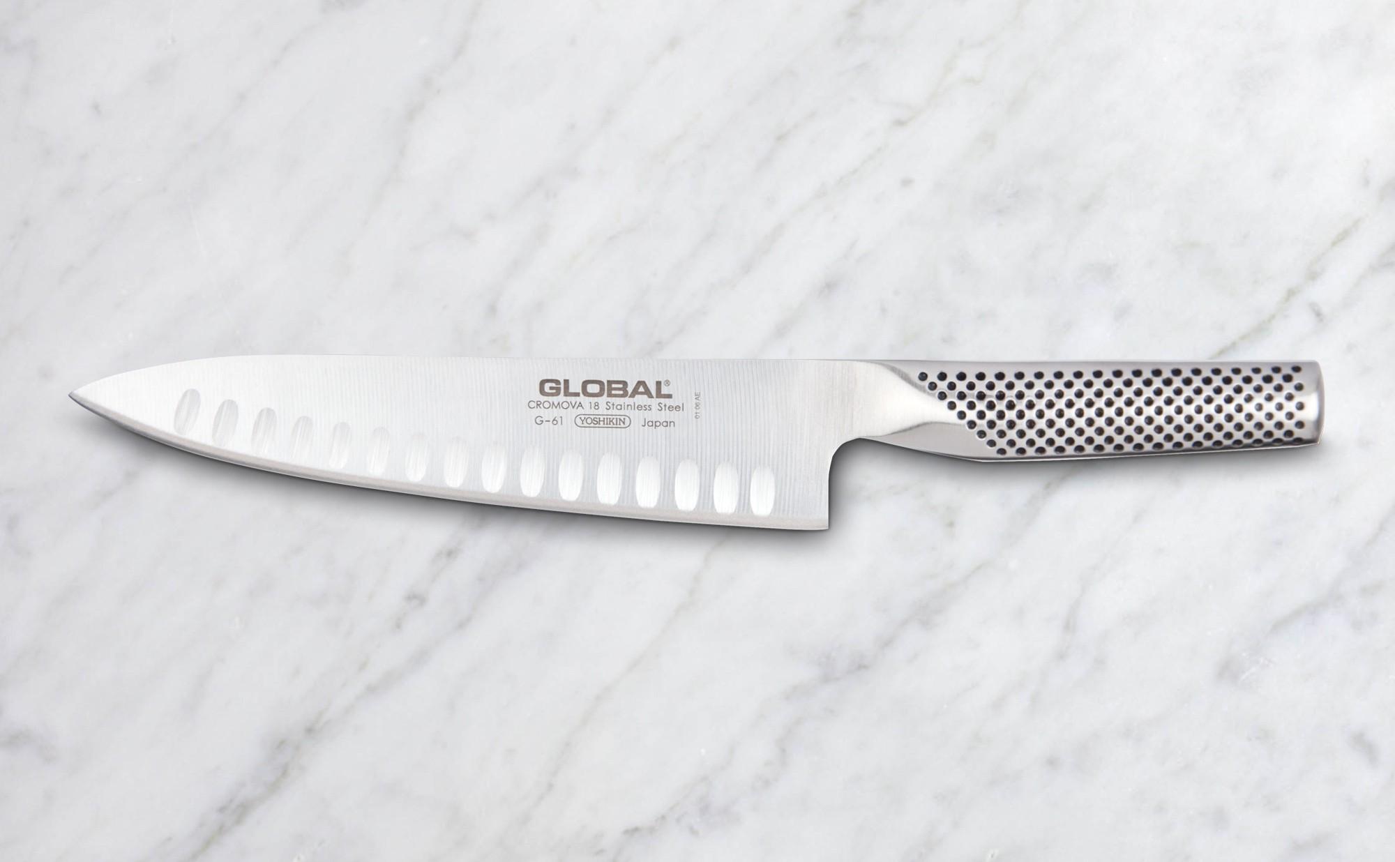 Couteau De Cuisine 20 Cm Lame Alveolee G61 Colichef