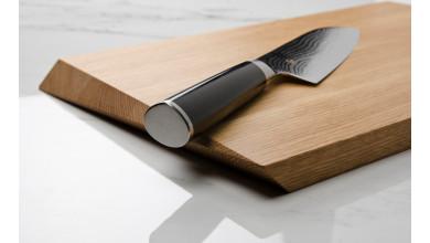 KAI Shun DM-0702 Couteau santoku damas 18 cm + Planche à découper GRATUITE