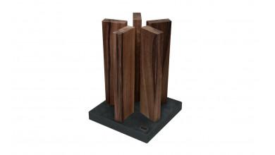 Porte couteaux KAI granit/bois noyer STH-4
