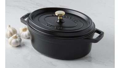 Cocotte ovale fonte noire 31 cm