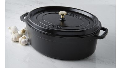 Cocotte ovale fonte noire 37 cm