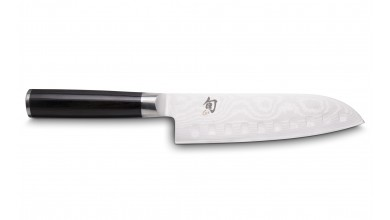 KAI Shun DM-0718 Couteau santoku alvéolé damas 18 cm