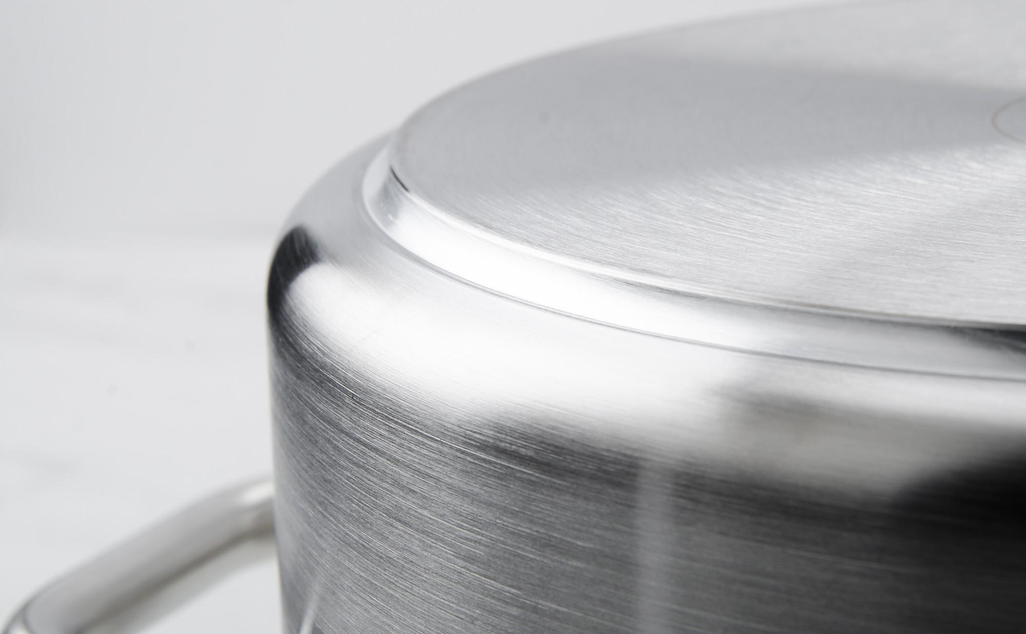 Rondeau de cuisine professionnel diam tre 36 cm colichef for Plat inox cuisine professionnel
