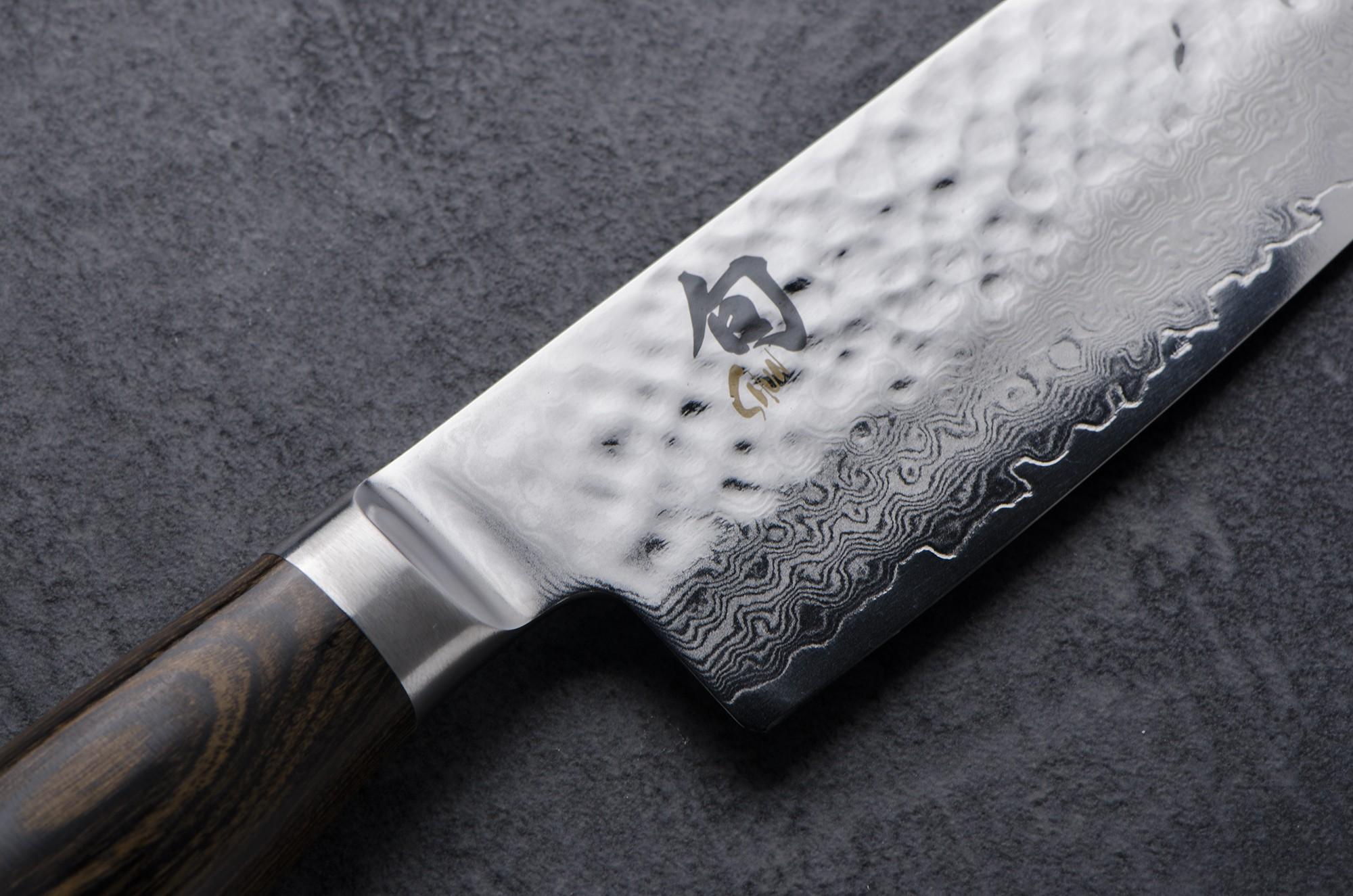 couteau à trancher kai tim malzer damas 24 cm - colichef