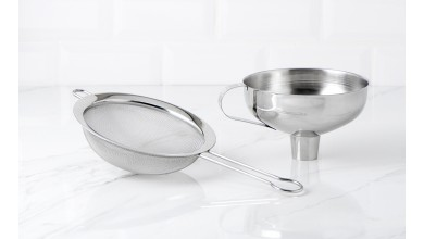 Funnel - removable stainless steel sieve