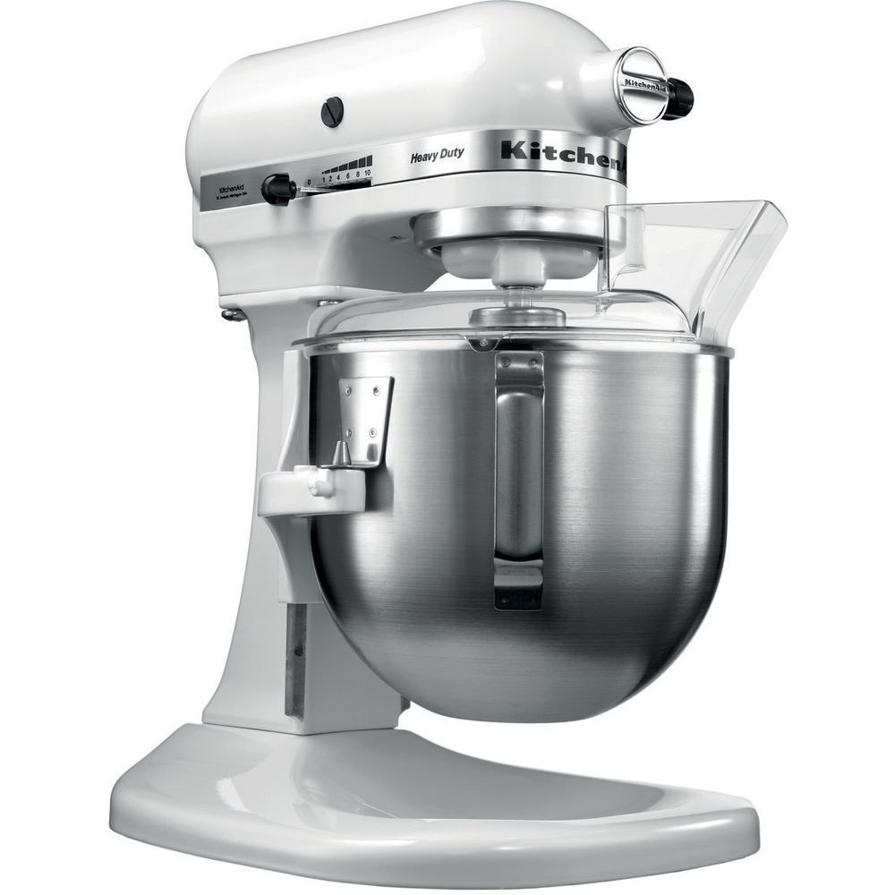 robot kitchenaid 5kpm5 heavy duty 4 8l blanc. Black Bedroom Furniture Sets. Home Design Ideas