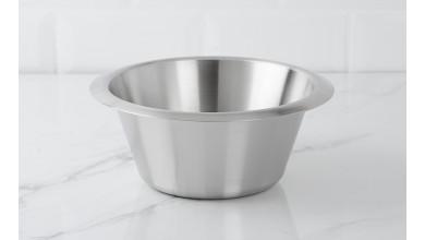 Stainless basin 18 cm flat bottom