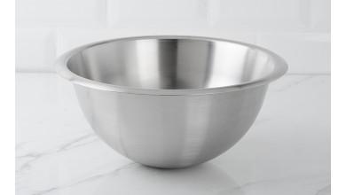 Half-round stainless steel basin 25 cm