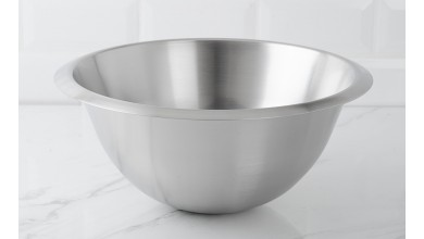 Half-round stainless steel basin 30 cm