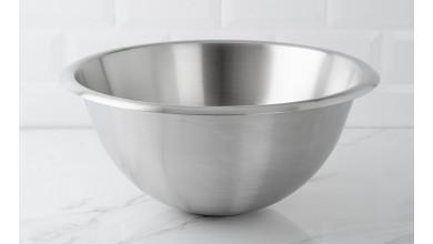 Half-round stainless steel basin 35 cm