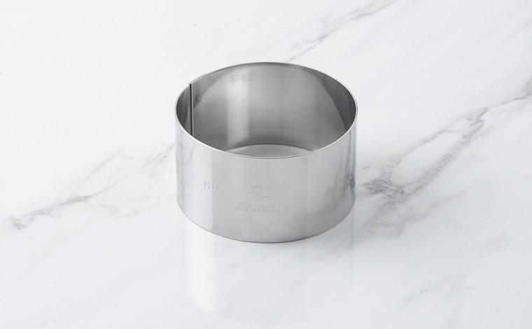 Cercle inox à mousse - Diamètre 8 cm
