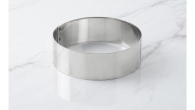 Cercle inox à mousse - Diamètre 12 cm
