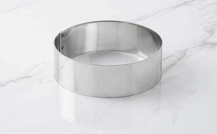 Foam stainless steel circle - Diameter 12 cm
