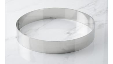 Cercle inox à mousse - Diamètre 24 cm