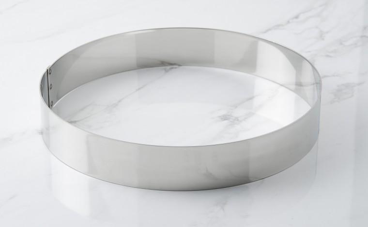 Foam stainless steel circle - Diameter 24 cm