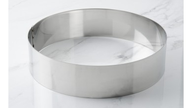 Cercle inox à vacherin - Diamètre 24 cm