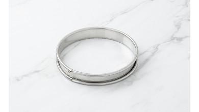 Cercle inox à tarte - Diamètre 12 cm