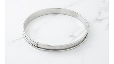 Cercle inox à tarte - Diamètre 14 cm
