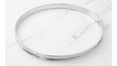 Cercle inox à tarte - Diamètre 28 cm