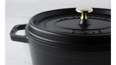 Cocotte ovale fonte noire 23 cm