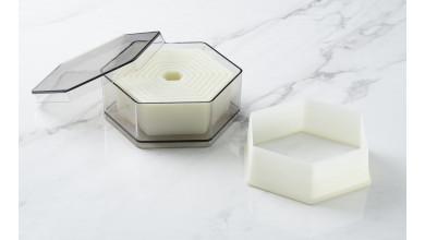 Boîte de 9 découpoirs hexagonaux unis