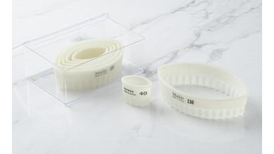 Boîte de 7 découpoirs cannelés ovales