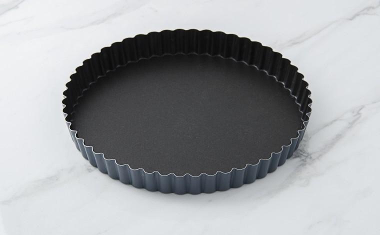 Tourtière cannelée Exopan fond fixe - Diamètre 20 cm