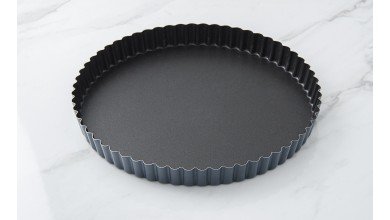 Exopan fixed bottom fluted tourtière - Diameter 24 cm