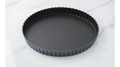 Tourtière cannelée Exopan fond fixe - Diamètre 24 cm