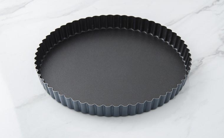 Exopan fixed bottom fluted tourtière - Diameter 24 cm