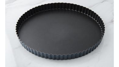 Tourtière cannelée Exopan fond fixe - Diamètre 28 cm