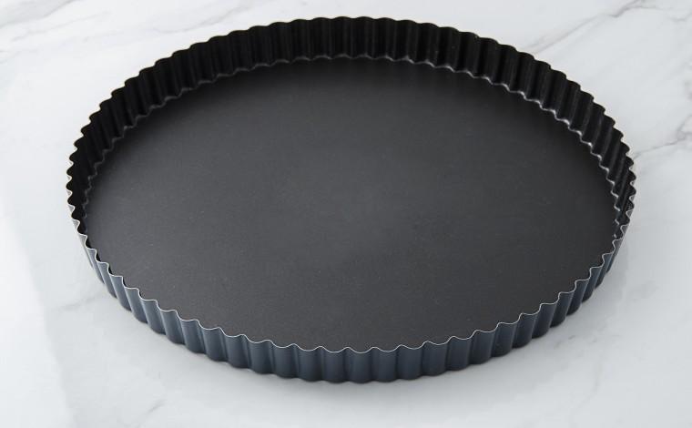 Exopan fixed bottom fluted tourtière - Diameter 28 cm