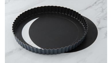 Tourtière cannelée Exopan fond mobile - Diamètre 24 cm