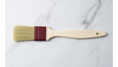Pinceau plat poils en soie naturelle 4 cm
