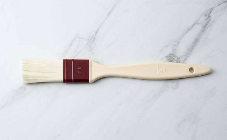 Flat brush hairs in synthetic fiber 3 cm