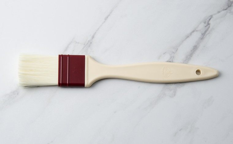 Flat brush hairs in synthetic fiber 4 cm