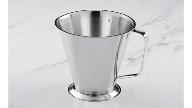1 litre stainless steel graduated measure